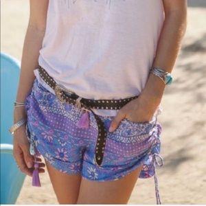 Spell and the Gypsy Boho Blossom Shorts Lavender
